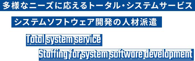 多様なニーズに応えるトータル・システムサービス システムソフトウェア開発の人材派遣